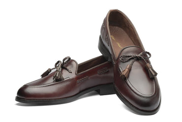Winston Leather Knot Loafers - Cherry/Brown