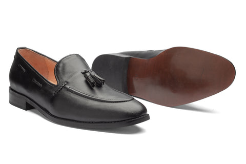 Kash 2 Tassel Loafers - Black - Dapperfeet