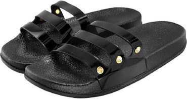 Metallic Sliders - Black