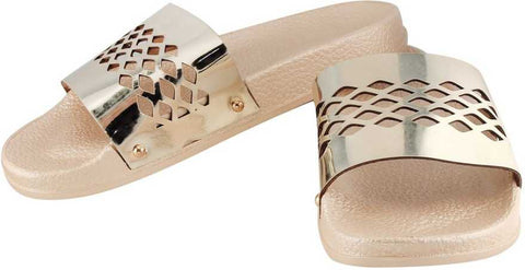 Metallic Diamond Sliders - Gold