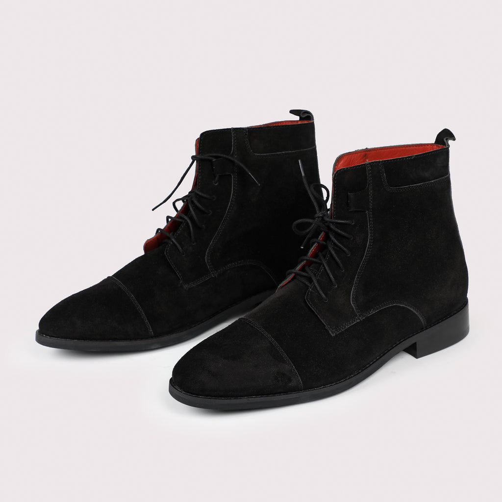 Brunello Suede Boots - Black