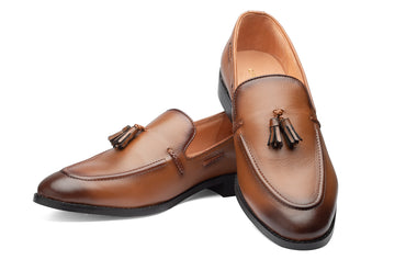 Kash 2 Tassel Loafers - Tan - Dapperfeet