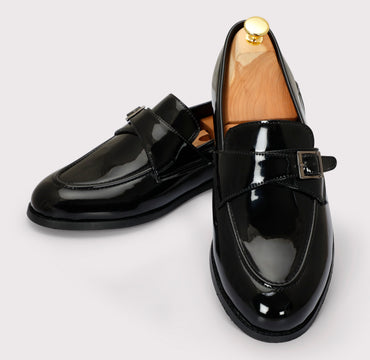 Macan Single Monks - Black Patent - Dapperfeet