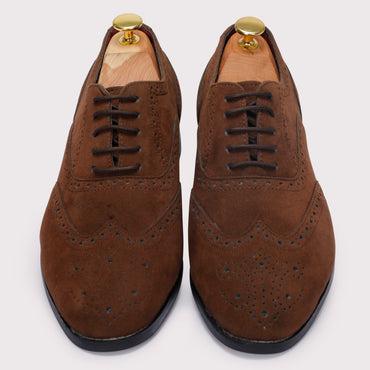 Forrero Suede Brogues - Brown - Dapperfeet