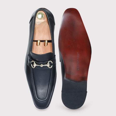 Quinn Buckle Loafers - Black - Dapperfeet