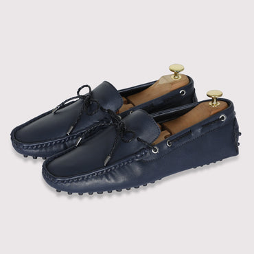 Schumacher Driving Shoes - Midnight Blue - Dapperfeet