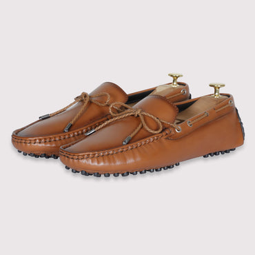 Schumacher Driving Shoes - Tan - Dapperfeet
