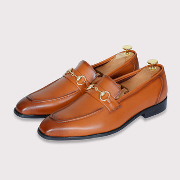 Quinn Buckle Loafers - Tan - Dapperfeet