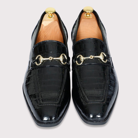 Quinn Buckle Loafers - Black Patent - Dapperfeet