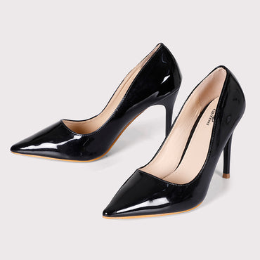 Patent Pumps  - Black - Dapperfeet