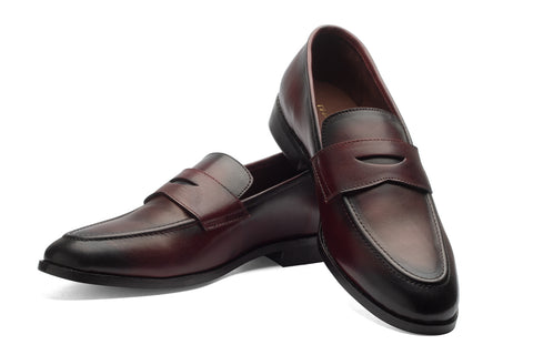 Penny Loafers - Cherry - Dapperfeet