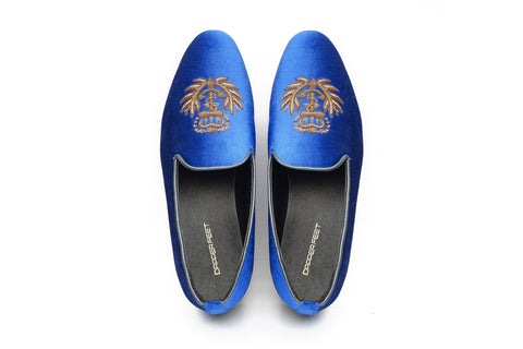 Fred Arrow Zardozi Slipons  - Blue - Dapperfeet