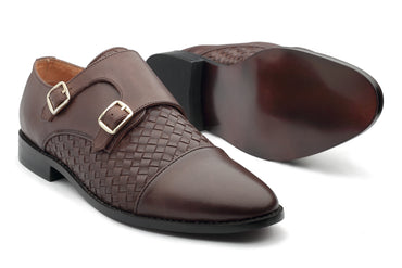 Borris Monk straps - Brown - Dapperfeet
