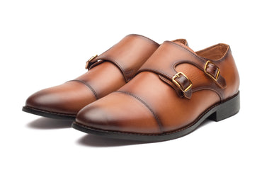 Baldwin Monk Straps - Tan - Dapperfeet