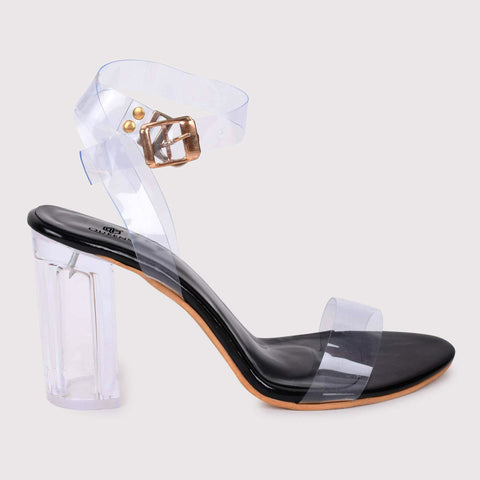 Clear Strap Tie Ups - Black