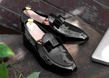 Cayenne Patent SlipOn - Black ( Save 31% Today ) - Dapperfeet