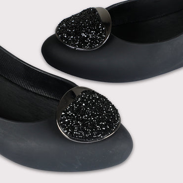 Glitter Crown Jellies - Black - Dapperfeet