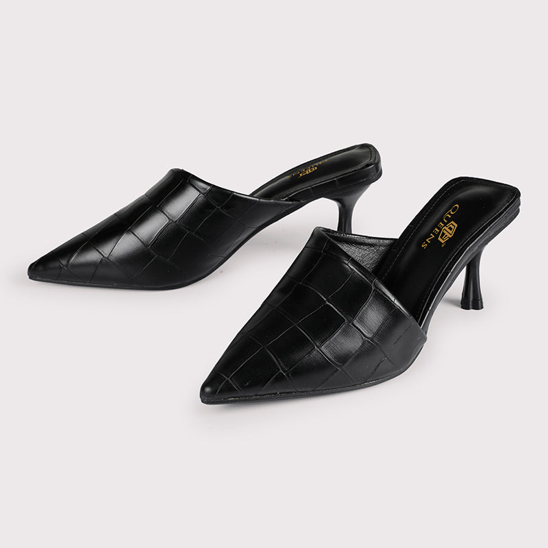 Kitten Clogs Croc - Black - Dapperfeet