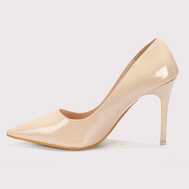 Patent Pumps - Beige - Dapperfeet