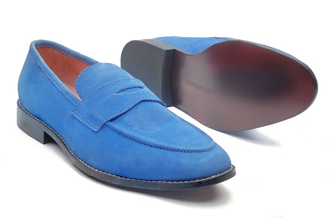 Rodio Suede loafers - Royal Blue - Dapperfeet