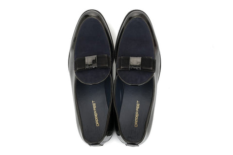 Cashmere Patent SlipOn - Midnight Blue - Dapperfeet
