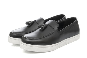 Elijah Tassel Slip-on - Black - Dapperfeet