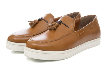 Elijah Tassel Slip-on - Tan - Dapperfeet
