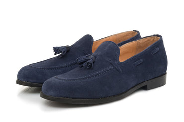 Hampton Tassel Loafers - Midnight Blue - Dapperfeet