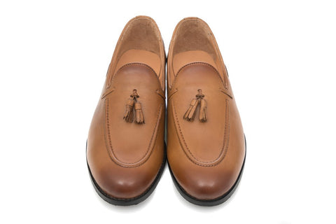 Kash Tassel Loafer - Tan - Dapperfeet
