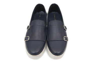 Klaus Monk Straps - Midnight Blue - Dapperfeet