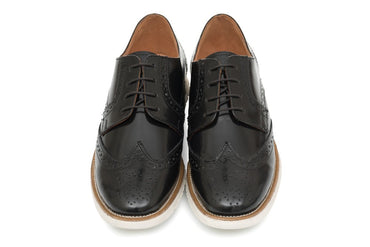 Lorenzo Brogues - Black - Dapperfeet