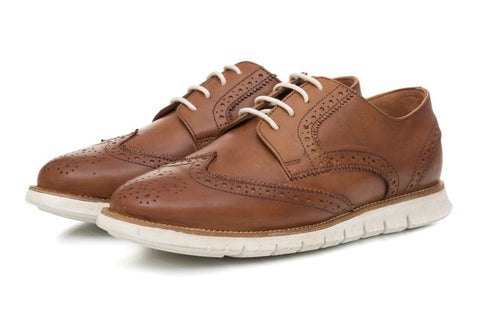 Lorenzo Brogues - Tan - Dapperfeet