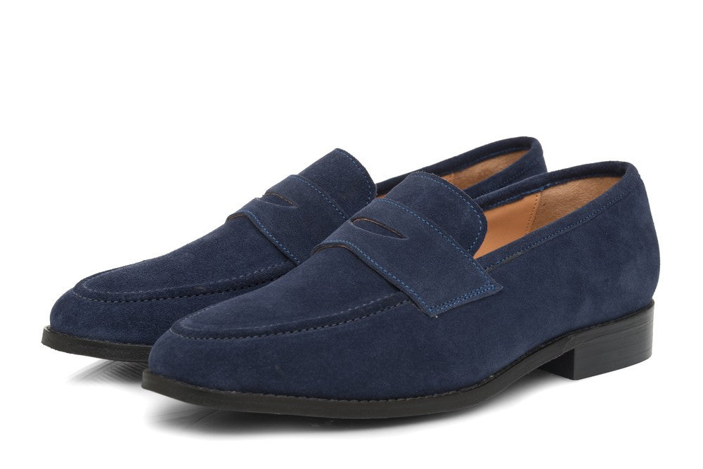 Rodio Suede Loafers - Midnight Blue - Dapperfeet
