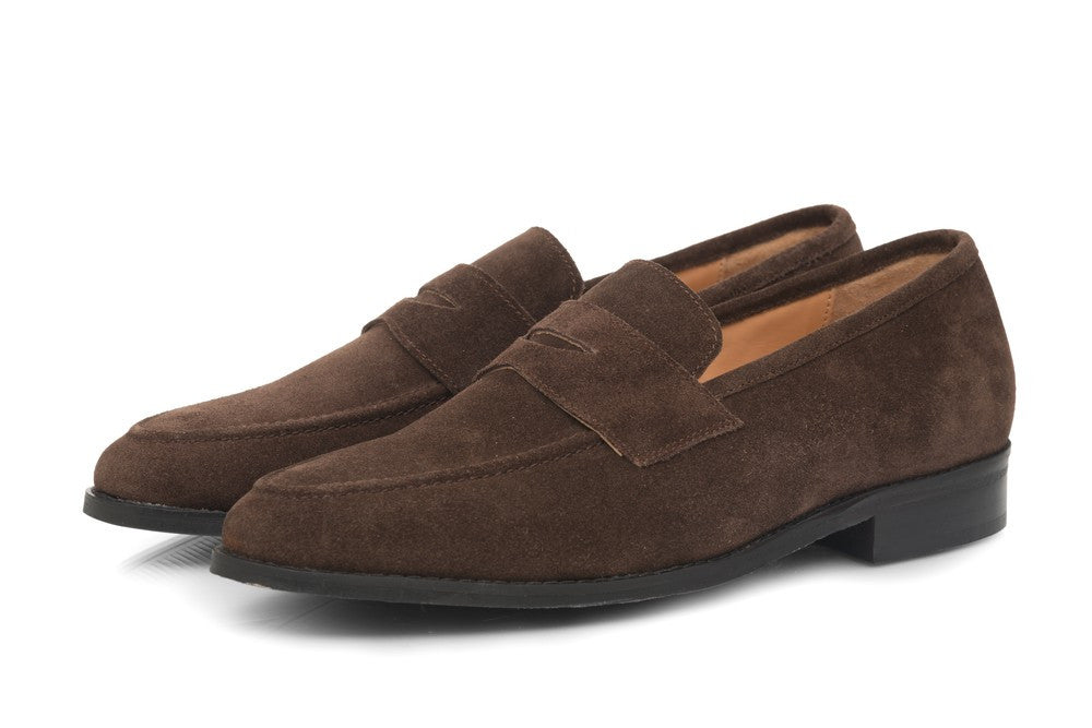 Rodio Suede Loafers - Brown - Dapperfeet