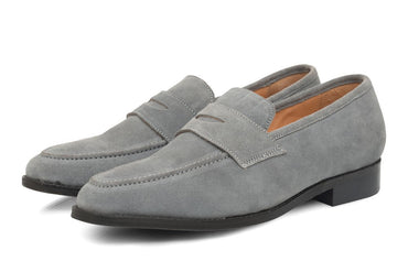 Rodio Suede Loafers - Grey - Dapperfeet