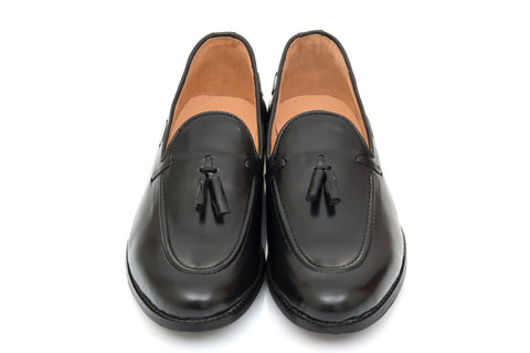 Sheldon Tassel Loafer - Black - Dapperfeet