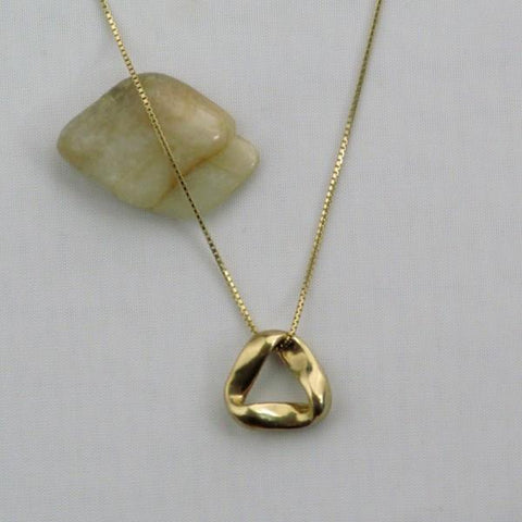 14 karat Gold SMALL Pendant Size: 5/8 inches