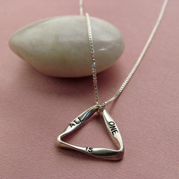 "Sterling Silver ALL IS ONE Pendant (3/4"") with Sterling Silver 18"" Chain"