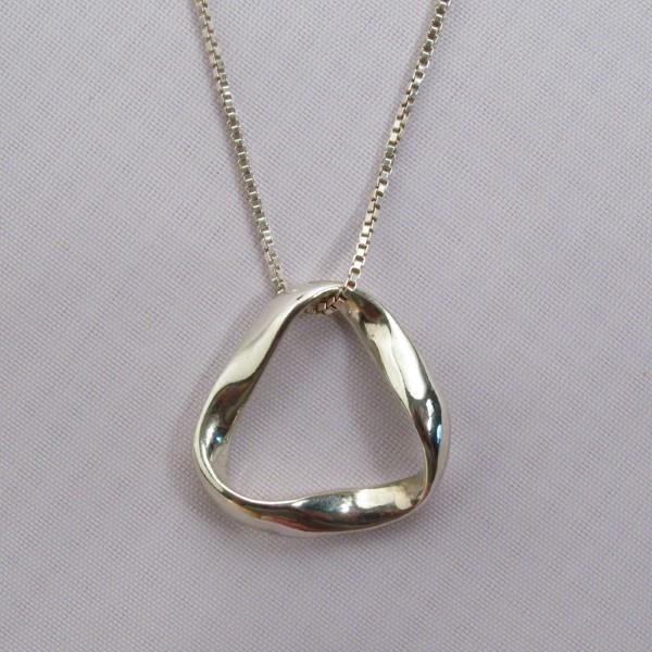 Sterling Silver LARGE MOBIUS PENDANT