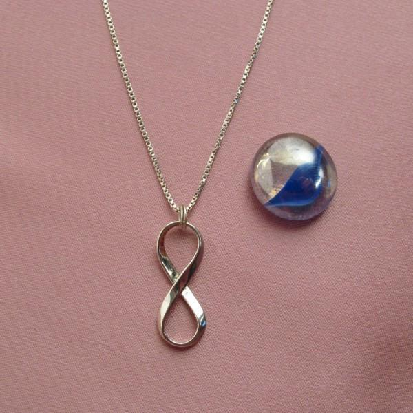 Sterling Silver INFINITY PENDANT- Medium
