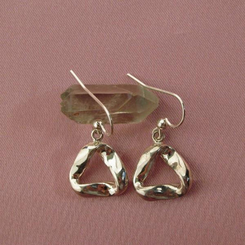 Sterling Silver Earrings 5/8 inches