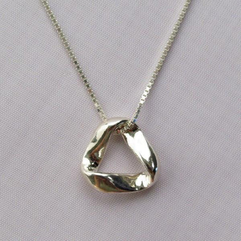 Sterling Silver SMALL MOBIUS PENDANT (5/8 Inches)