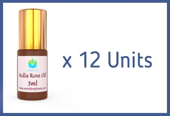 (12 UNITS) Wholesale- 3ml India Rose Oil @ $10.50/unit