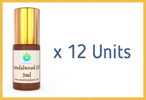 (12 UNITS) Wholesale- 3ml Sandalwood Oil @ $17/unit