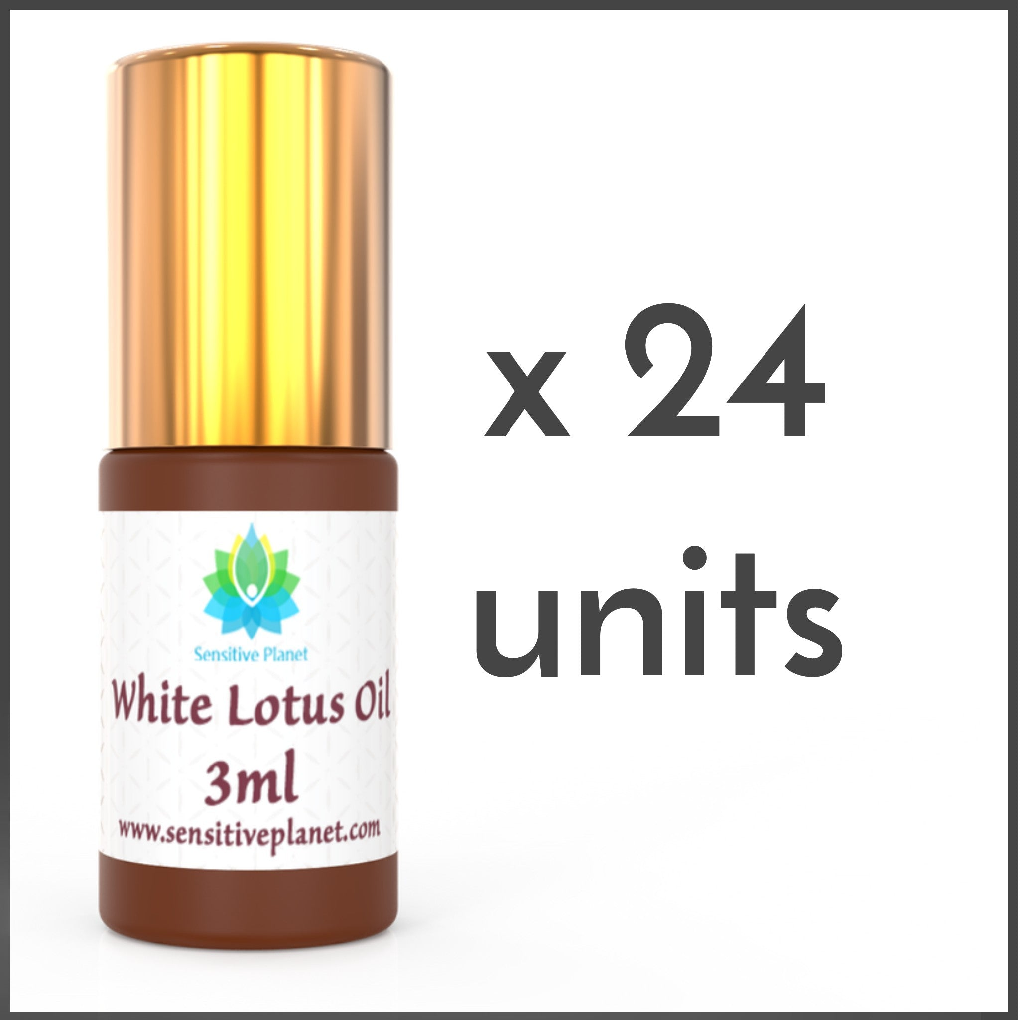 (24 UNITS) Wholesale-  3ml White Lotus Oil @ $14/unit