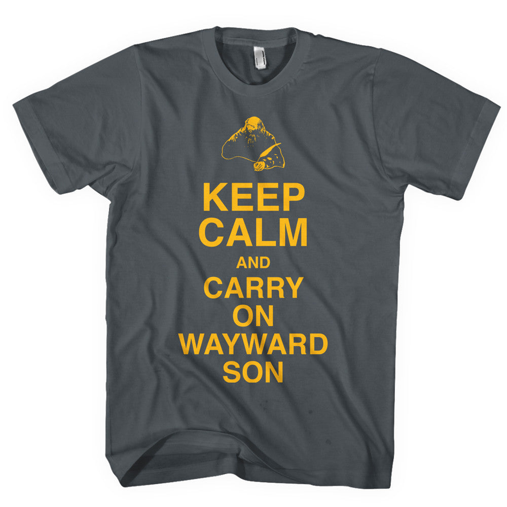 KANSAS - Keep Calm & Carry On Wayward Son T-Shirt - Pepper