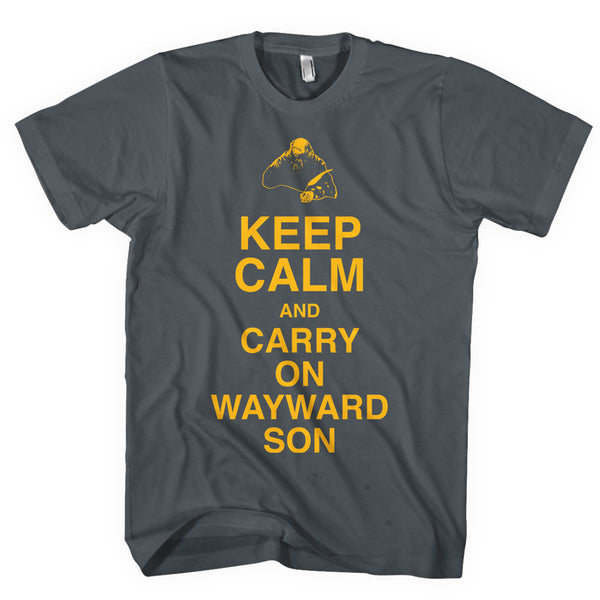 KANSAS Keep Calm & Carry On Wayward Son T-Shirt (Pepper)