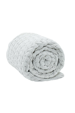 Spa Veranda Bubble Cable Knit Throw