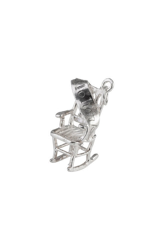 Sterling Rocking Chair Charm