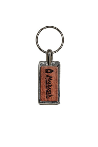 Mohonk Logo Rosewood Key Chain